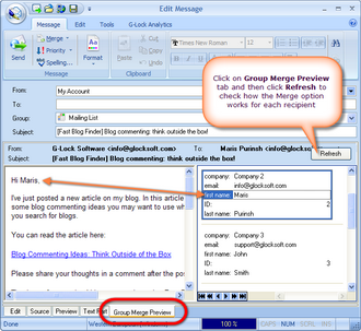 Click to view G-Lock EasyMail 6.71 screenshot